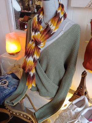 Orange, Yellow, Brown Fall Scarf