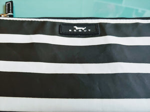 Black & White Striped Scout Wristlet