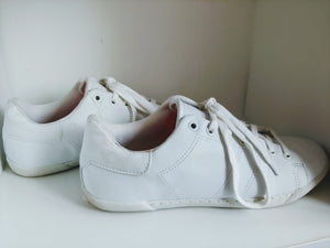 White Rampage Sneakers, size 8.5