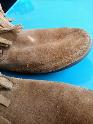 Brown Suede Minnetonka Boots, size 8