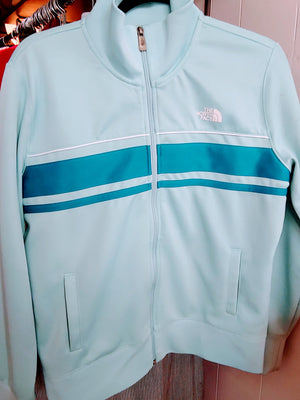 Teal The North Face Zip Up Jacket
