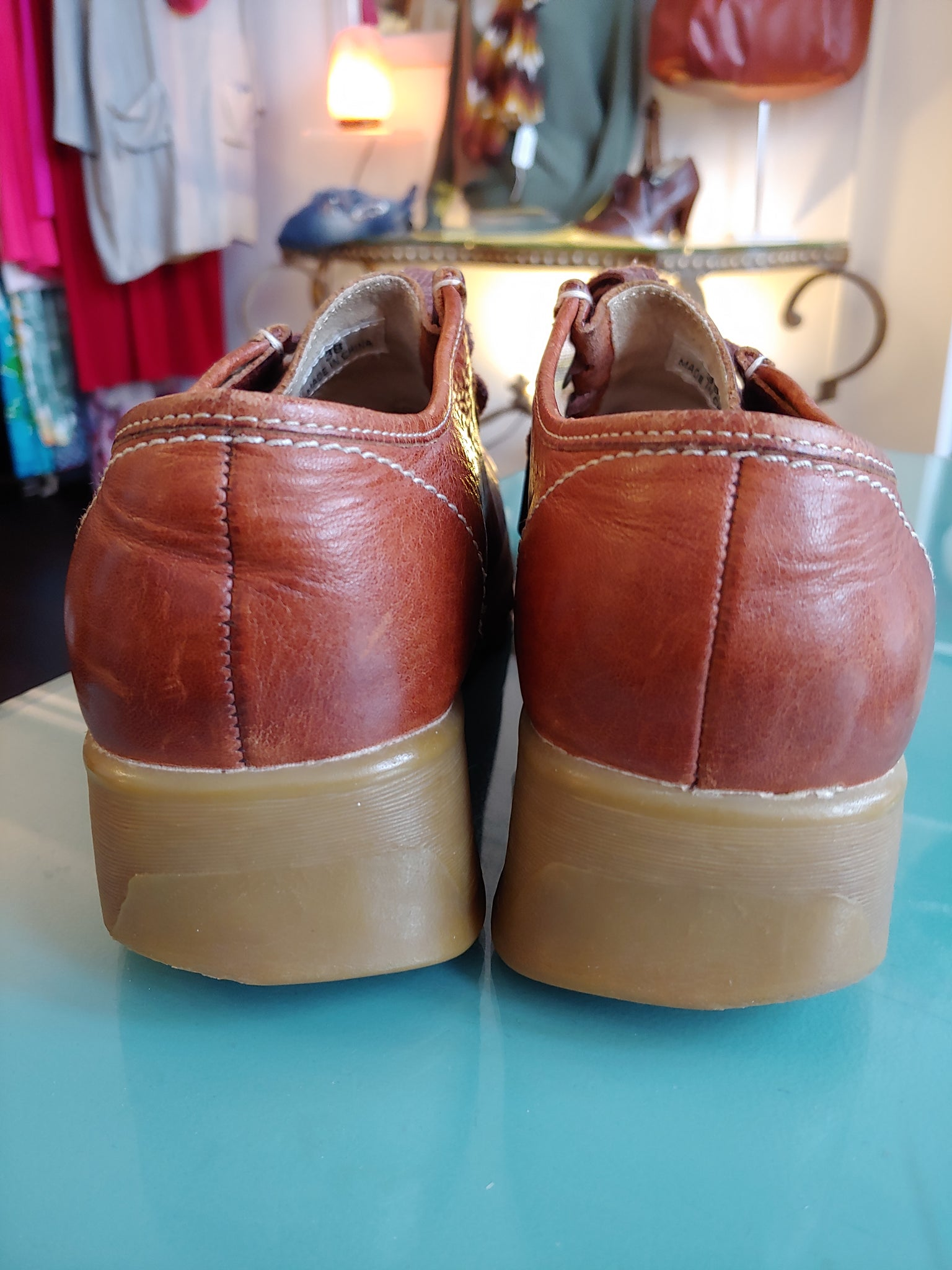 Brown Distressed Leather Aldo Shoes, size 38 (US 7.5)