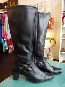 Black Mootsies Tootsies Tall Boots, size 7.5