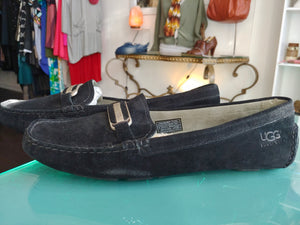 Black Ugg Loafer Shoes, size 10