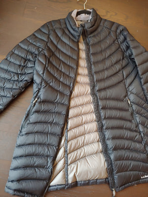 Black 3/4 Length LL Bean Puffy Jacket, size XL