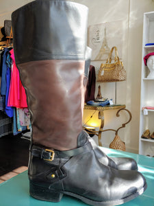 Brown & Black Audrey Brooke Tall Boots, size 10