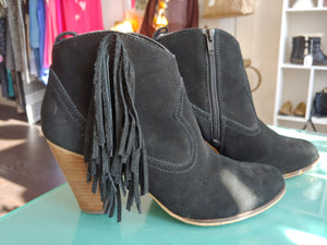 Black Suede Steve Madden Booties, size 9.5
