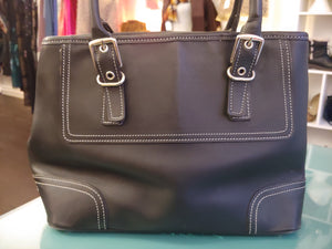 Black Leather Coach Satchel, Shoulder Bag
