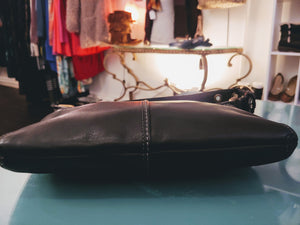 Small Black Leather Coach Shoulder Bag