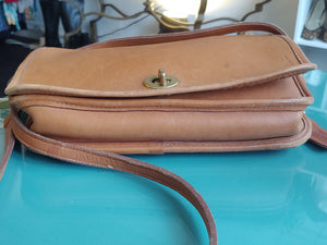 Light Brown Leather Coach Cross Body