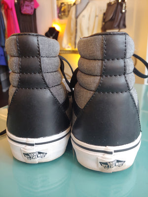 Gray Vans Off The Wall High Top Sneakers, size 9