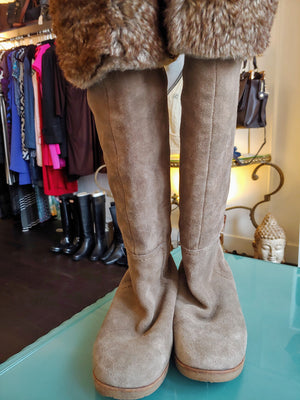 Taupe Suede Style Sam Edelman Boots, size 5.5