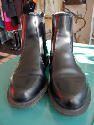 Black Dr. Martens Leather Ankle Boots, size 9