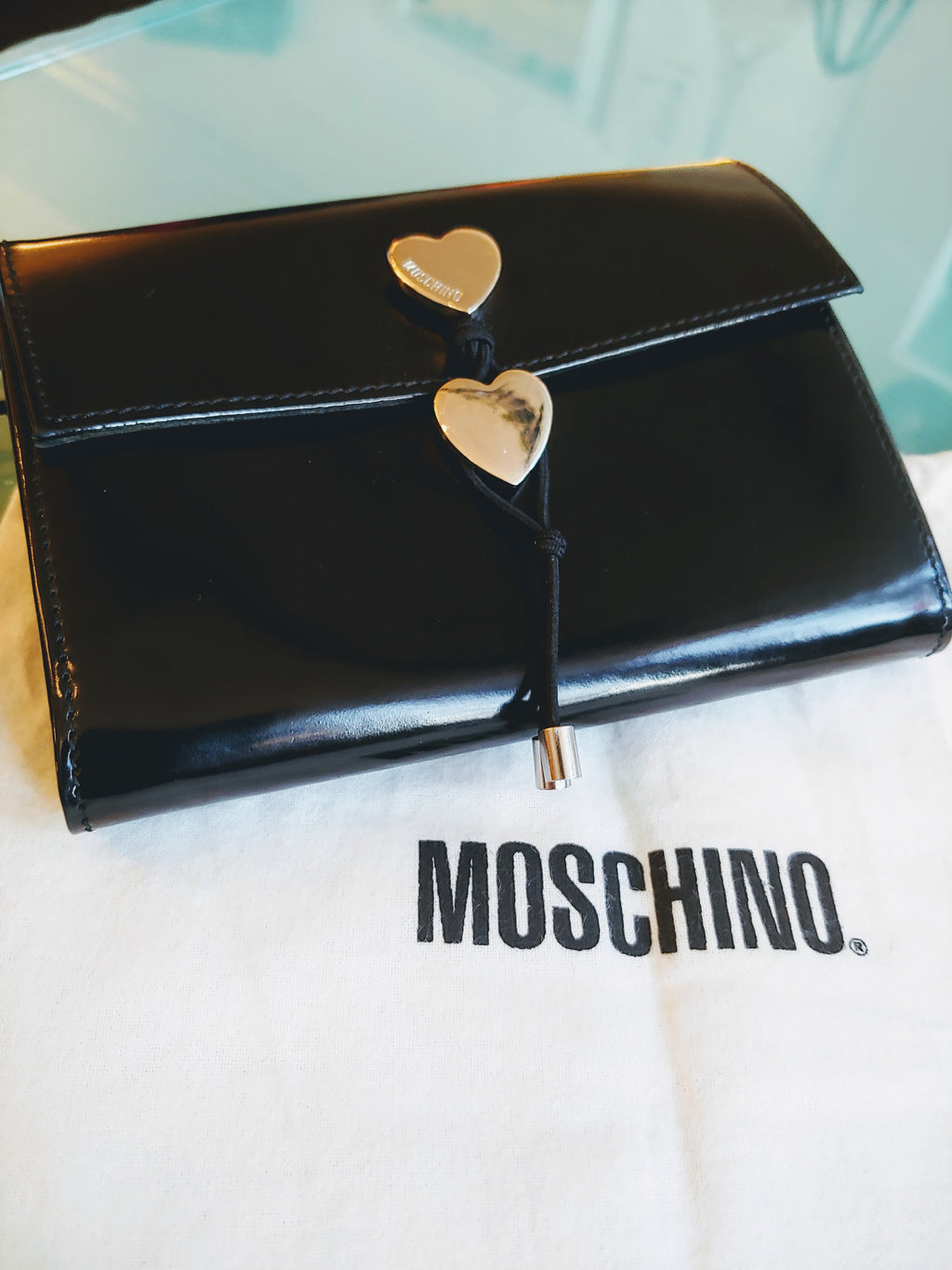 Black Moschino Leather Wallet