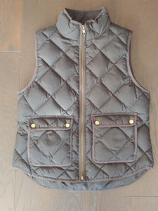 Black Quilted JCrew Vest, size PM