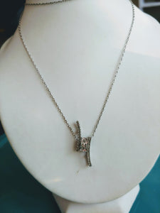 White Gold & Diamond Pendant Necklace