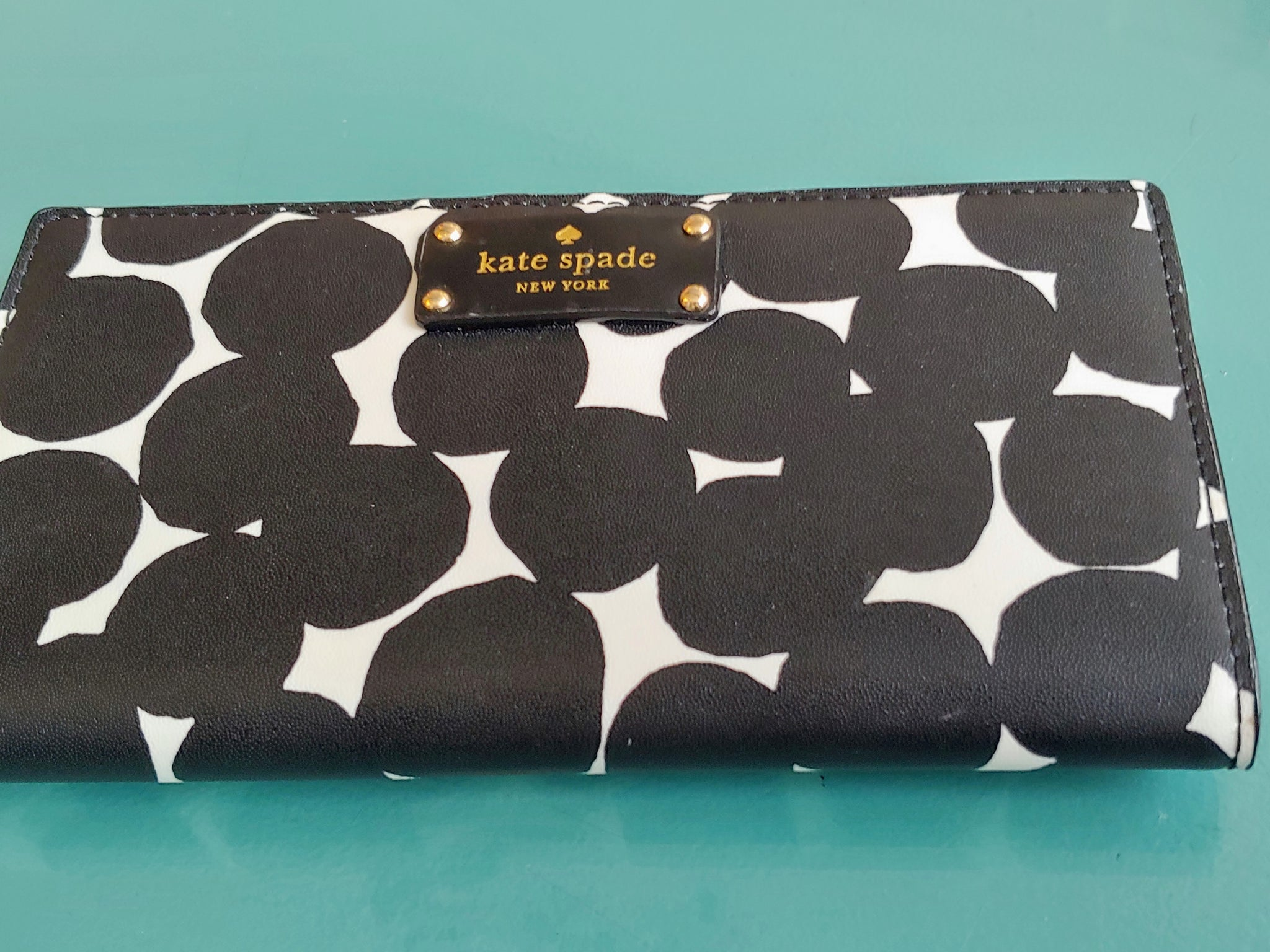 Black and White Print Kate Spade Wallet