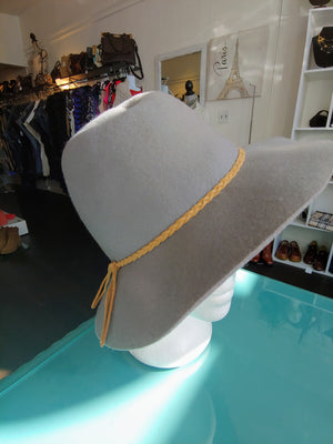 Gray Bohemian Chic Hat