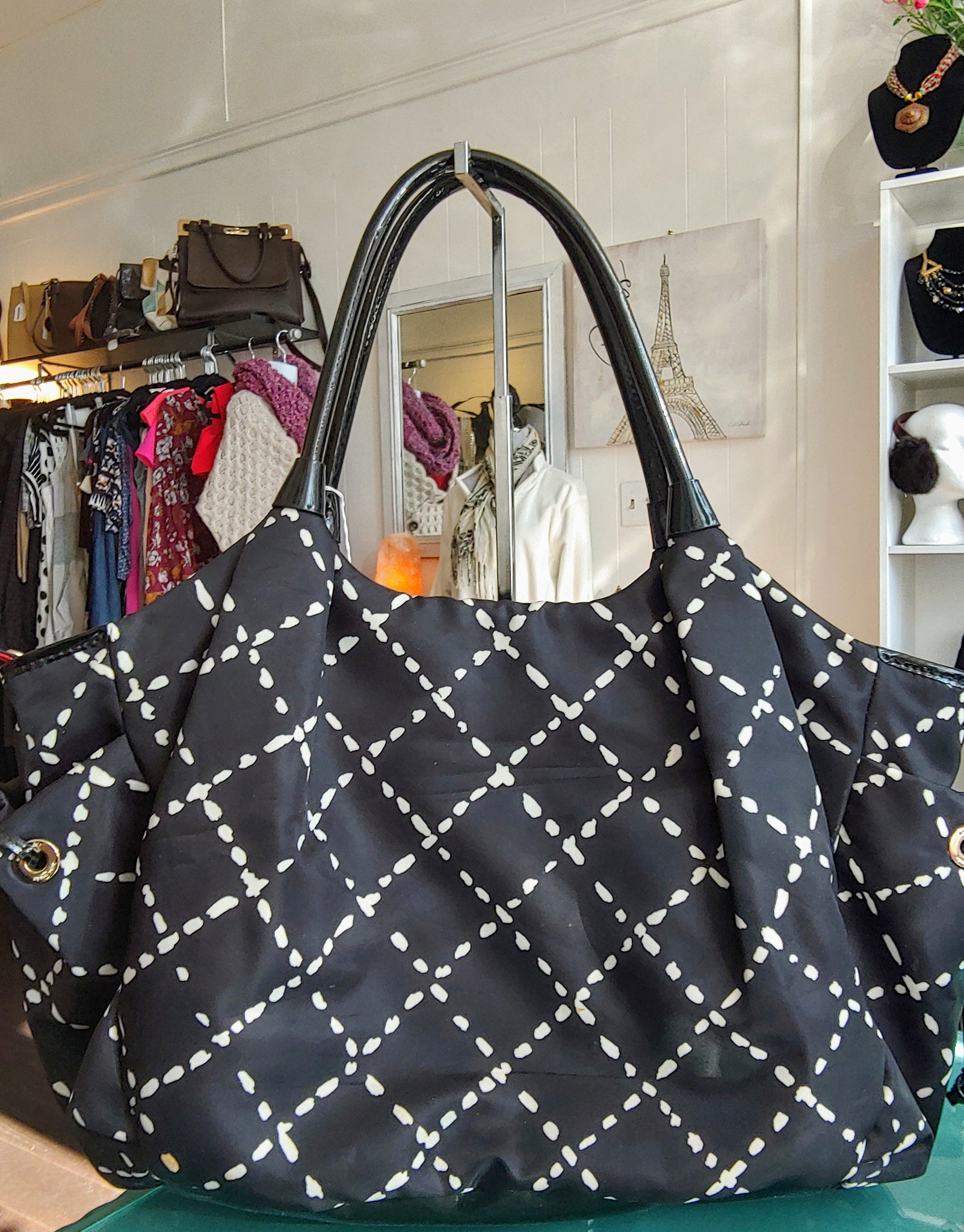 Black & White Print Kate Spade Shoulder Bag