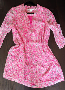 Pink Patterned Diane von Furstenberg Tunic, Dress, size 4