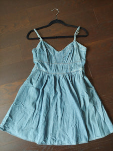 Short Express Denim Dress, size S