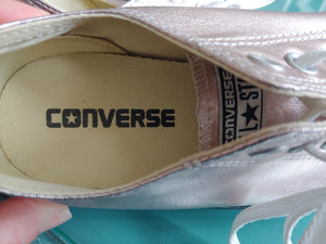 Rose Gold Converse All Star Sneakers, size 8