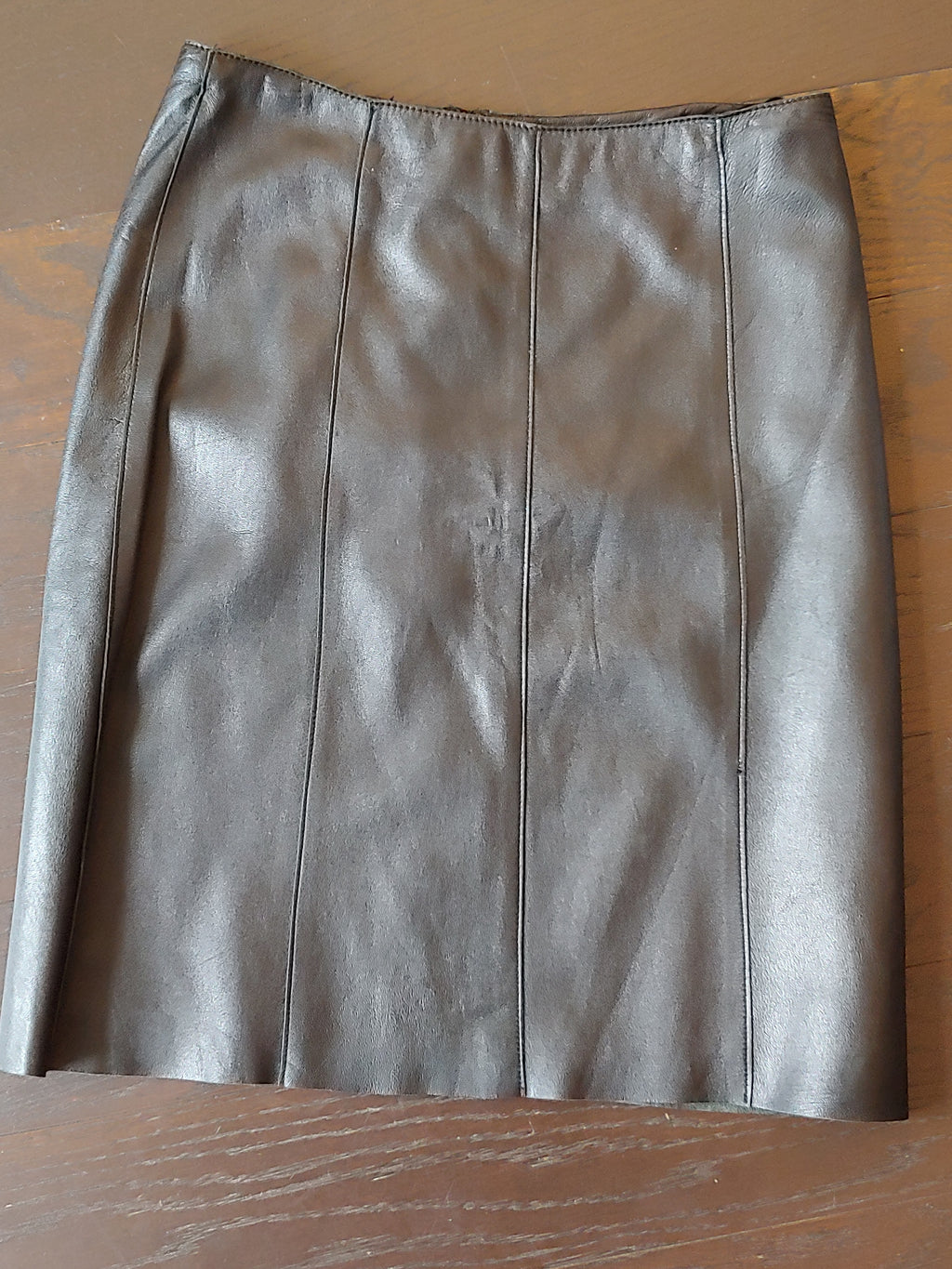 Black Leather BEBE Skirt, size 8