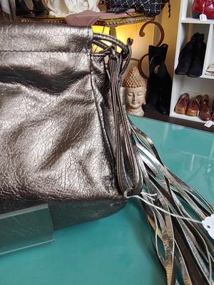 Pewter/ Silver Clutch, Large