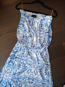 Blue & White Cynthia Rowley Tube Maxi Dress, size M