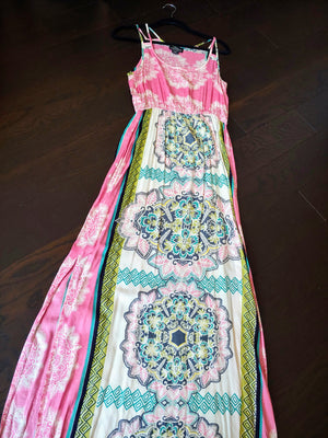 Pink, Multicolor Angie Maxi Dress, size M