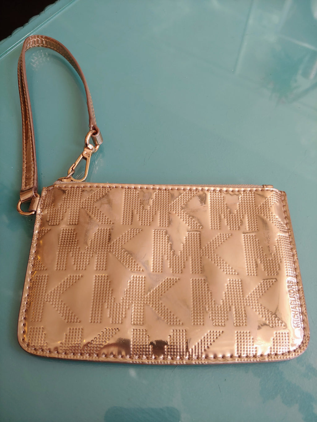Small Rose Gold Michael Kors Wristlet