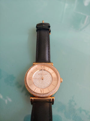 Rose Gold & Pave Crystal Michael Kors Watch