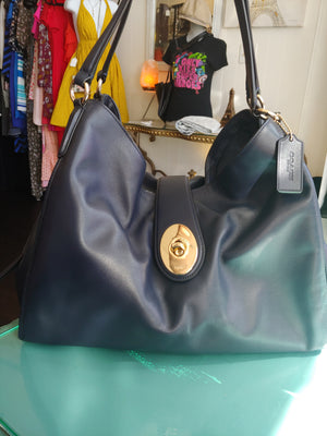 Midnight Blue Coach Hobo Bag