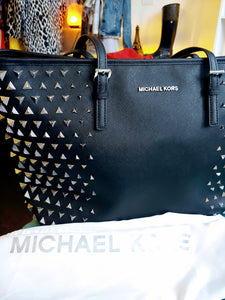 Black Michael Kors Studded Tote Bag