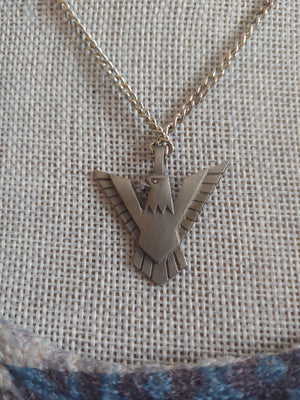 Stainless Steel American Eagle Necklace