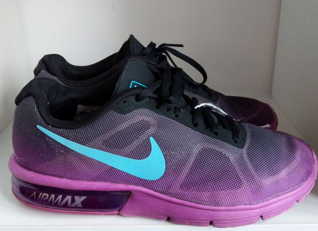 Purple & Blue Nike Airmax Sneakers, size 9
