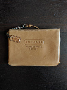 Light Brown Coach Wristlet
