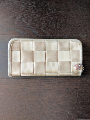 Beige Seatbelt Bag Wallet