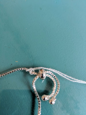 Silver Tone Bracelet with Jewels