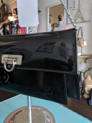 Black Patent Leather Beijo Bag
