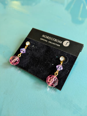 Nordstrom Crystal collection earrings, necklace, bracelet