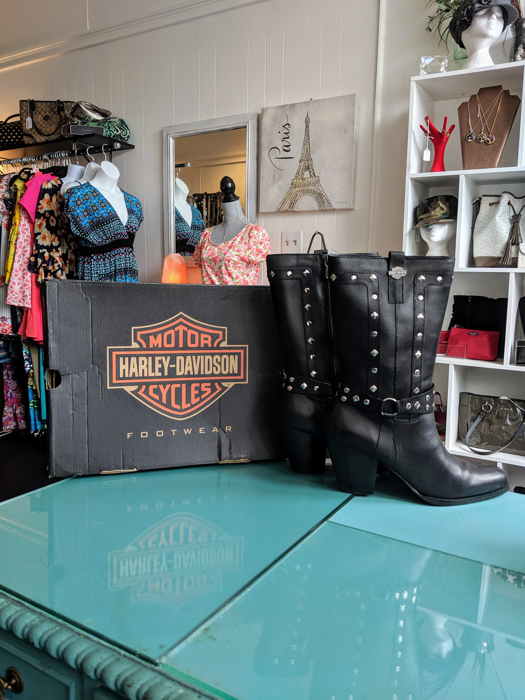 Harley Davidson women's leather boots