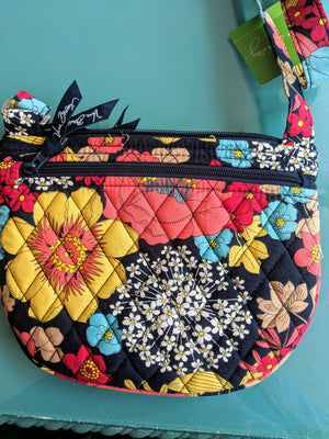 Red, blue and pink floral print Vera Bradley Purse
