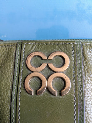 Forest Green Coach Wristlet