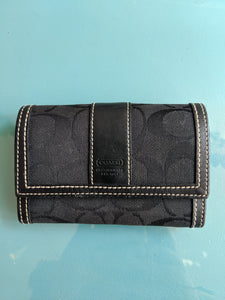 Black Coach Card Case