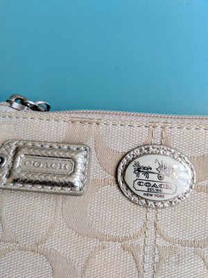 Small Gold Coach Wristlet