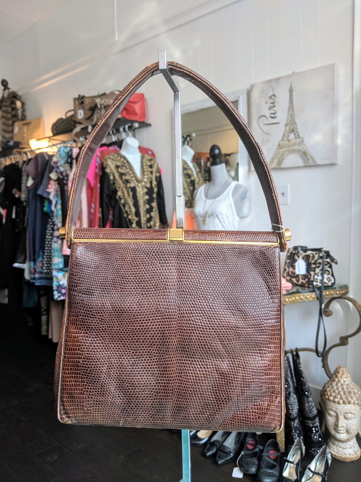 Brown Lizard Rendl Vintage Purse