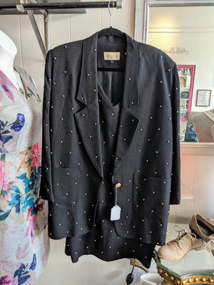 Black Vintage Cache Dress/Blazer Outfit