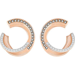 Rose Gold and Crystal Swarovski Earrings