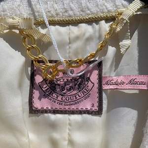 Beige & Gold Juicy Couture Jacket, size 2